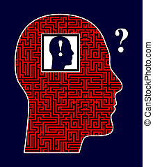 Self Discovery - Person rising the philosophical question of...