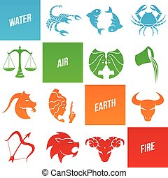Zodiac Star Signs - Vector Illustration of Zodiac Star Signs