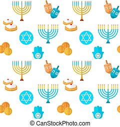 Happy Hanukkah seamless pattern - Happy Hanukkah vector...