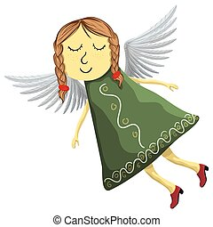 Fairy angel isolated on white