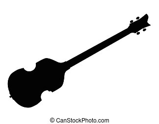 Violin Style Bass Guitar Silhouette - A typical violin style...