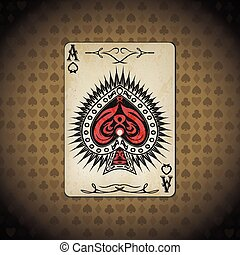 Ace of spades, poker cards old look
