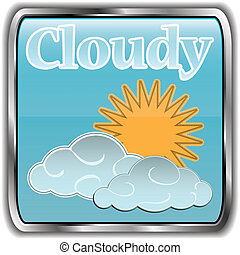 Day weather icon with text Cloudy