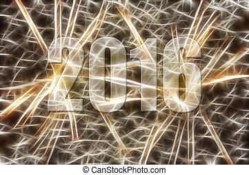 Ner Year 2016 - Abstract image - lights in the motion - New...