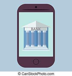 Flat design online banking - Flat design vector illustration...
