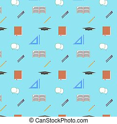Back to School seamless pattern - Back to School Flat design...