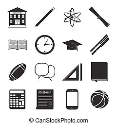 Back to School icon set - Back to School icon vector set,...