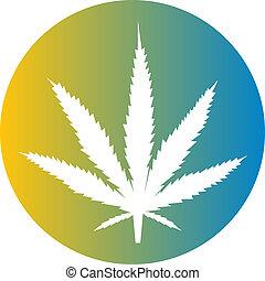 Marijuana leaf illustration - Marijuana cannabis leaf...
