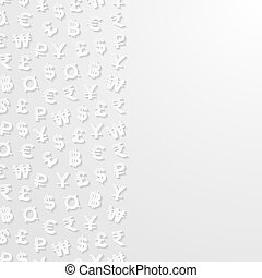 Abstract background with currencies - Abstract background...