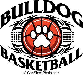 bulldog basketball - tribal bulldog basketball team design...