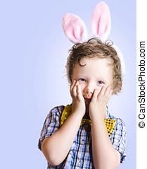 Surprised Easter Kid Looking Shocked - Funny Easter Kid...