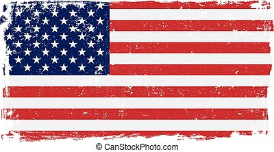 USA Flag in Vector Format - USA American vector grunge flag...