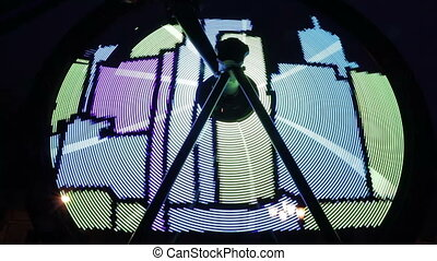 Projection on a bicycle wheel