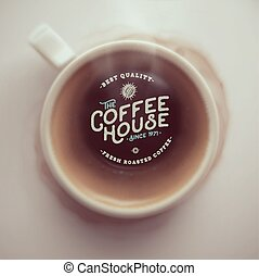 Coffee House - Coffee cup, top view, coffee house, eps 10