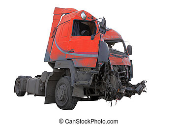crash truck - The image of crash truck under the white...