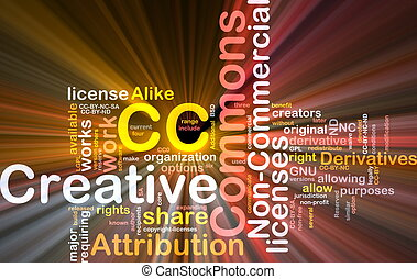 Creative commons background concept glowing