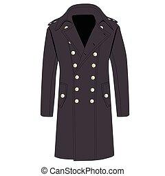 Grey trench coat - Vector illustration man elegant grey...