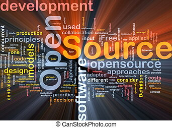 Open source background concept glowing - Background concept...