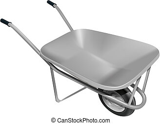 wheelbarrow - vector photo realistic wheelbarrow...