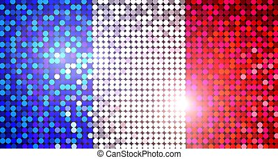 sparkling flag of france