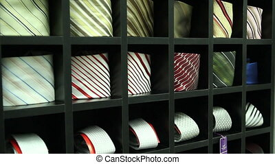 Showcase Neckties In The Store - Review showcases and ties...