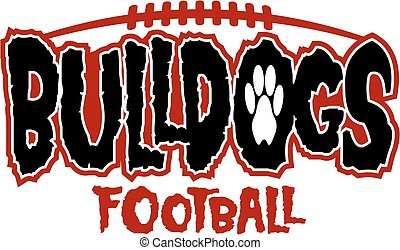 bulldogs football team design with creepy lettering for...