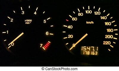 auto dashboard gauges indication
