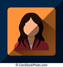 Young people profile graphic design, vector illustration