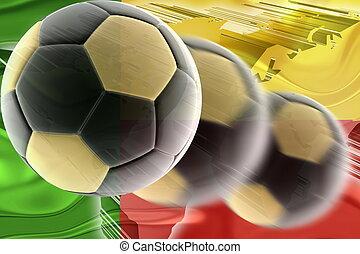 Flag of Benin wavy soccer - Flag of Benin, national country...