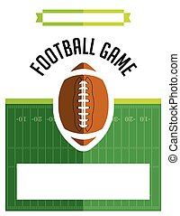 American Football Game Flyer - A template flyer background...
