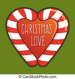 Christmas Love Candy Cane - Two candy cane form a love...