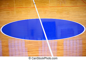 Basketball field background, Center of play ground