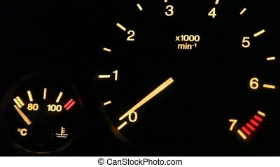 tachometer indication