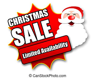 Holiday Season Promotional Sticker with Sales related...