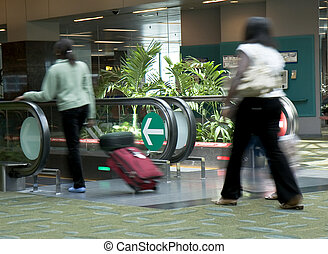 Changi Airport Terminal 2 - Travelers using the...