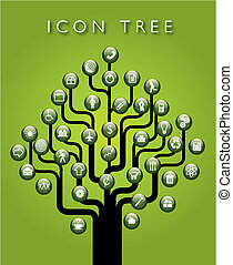 A vector icon tree