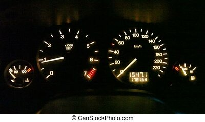 moving pointer of tachometer
