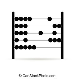 abacus vector in black color
