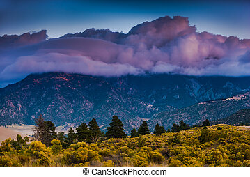Thick Clouds over the Sangre de Cristo Mountains Great Sand...