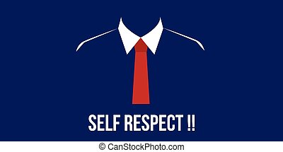 self respect confidence person with suit red tie vector