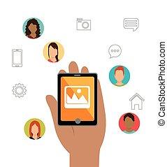 Social media entertaiment graphic design, vector...