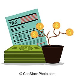 Government taxes payment graphic design, vector illustration...