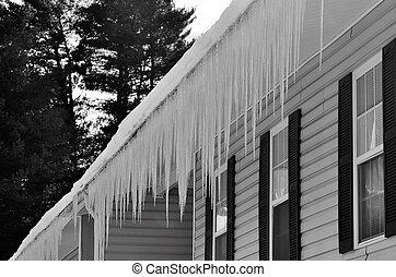 Freezing winter ice hazard - Freezing ice hazard from...