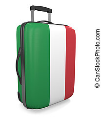 Italy travel suitcase - Italy vacation destination concept...