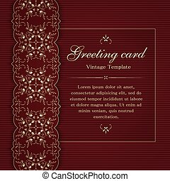 Invitation or greeting card template. - Invitation or...