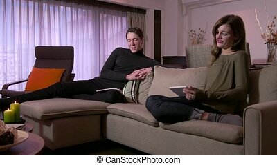 Young Man And Woman Relax At Home - Married people, marriage...