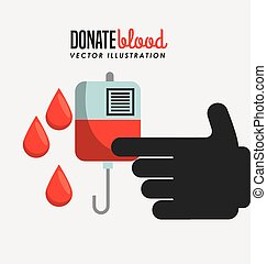 donate blood design, vector illustration eps10 graphic