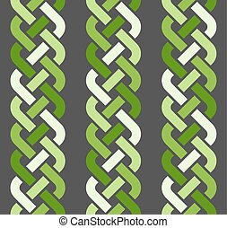 4-strand braids seamless pattern - A seamless pattern with...