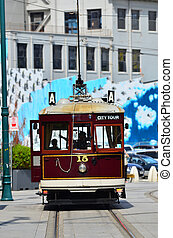 Christchurch Tramway tram system - New Zealand -...