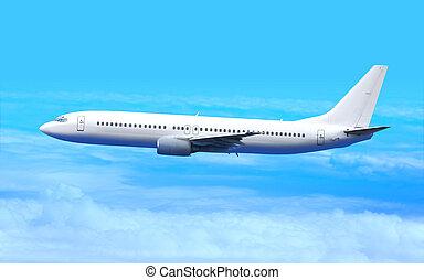 branca, avião